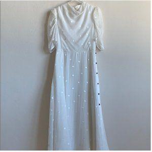 kate spade white bakery dot dress 4 nwot